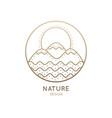 logo circlel nature vector image vector image