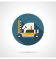 Machine for crop protection flat color icon vector image vector image