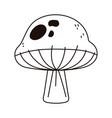 mushroom food nature vegetable isolated icon line vector image vector image