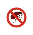 No flea icon in flat style vector image vector image