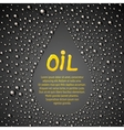 Oil drop abstraction vector image