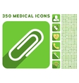 Paperclip Icon and Medical Longshadow Icon Set vector image vector image