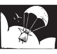Parachuting vector image vector image