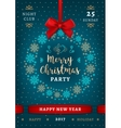 Poster Christmas and Happy New Year Holiday party vector image
