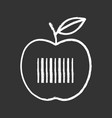 product barcode chalk icon vector image vector image