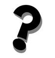 question mark cartoon icon vector image vector image