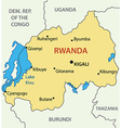 Republic of Rwanda - map vector image vector image