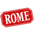 rome red square grunge retro style sign vector image vector image