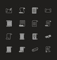scrolls and papers - flat icons vector image vector image