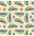 Seamless pattern of buses and alarms vector image vector image
