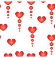 seamless pattern with red hearts and circles vector image vector image