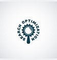 search optimization logo vector image