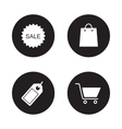 Shopping icons set Black vector image
