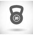 Sport weight single icon vector image