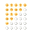 Stars Rating Set vector image