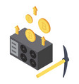 stealing money icon isometric style vector image vector image