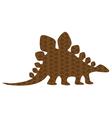stegasaurus vector image vector image