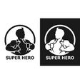 super hero man opening his shirt icon vector image