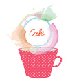 Tea or coffee cup and frame for menu design vector image