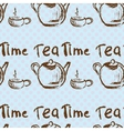 Tea time vintage seamless background vector image vector image