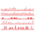 townscape set vector image vector image