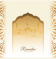traditional ramadan kareem festival card vector image vector image