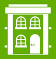 two-storey residential house icon green vector image vector image