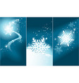 winter banners with magic snowflakes vector image vector image