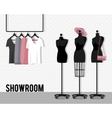 with showroom vector image vector image