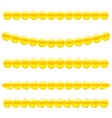 Yellow Pearl Necklace vector image vector image