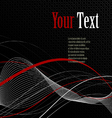 Black abstract background composition vector image