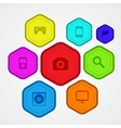 Set of colored badges and labels vector image