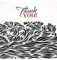 Thank you typographic card with ink floral vector image