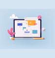 3d web concept seo optimization for website vector image