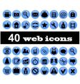 40 web icons vector image vector image