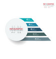 abstract element infographics 5 option design for vector image vector image