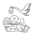 baby shower cartoon vector image