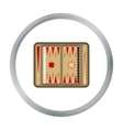 Backgammon icon in pattern vector image