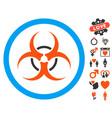 bio hazard icon with valentine bonus vector image vector image