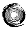 black concentric grunge circle vector image vector image