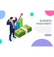 business investment concept with characters can vector image vector image