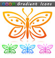 butterfly symbol icon design vector image vector image