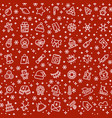 christmas seamless pattern with xmas vector image
