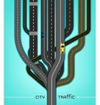 City Traffic Roads vector image vector image