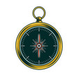 classic vintage metal compass for trip vector image