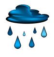 Cloud and rain drops icon vector image
