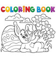 coloring book easter rabbit theme 2 vector image vector image