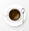 Cup of Coffee with spoon vector image vector image