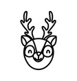 cute deer face cartoon character on white vector image