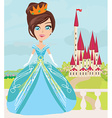 cute little princess and a beautiful castle vector image